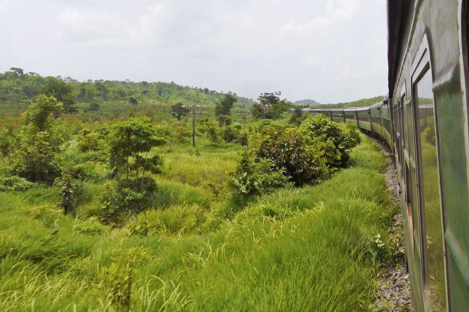 Zugfahrt in Vietnam