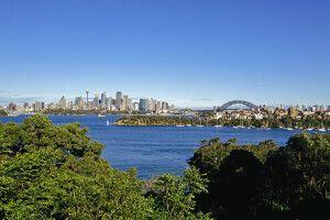 Blick vom Zoo Sydney auf den Hafen