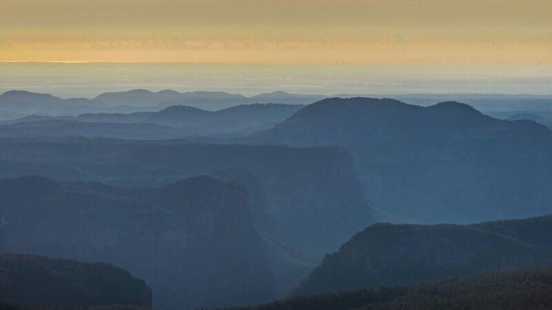 Morgennebel im Blue-Mountain-Nationalpark © Diamir