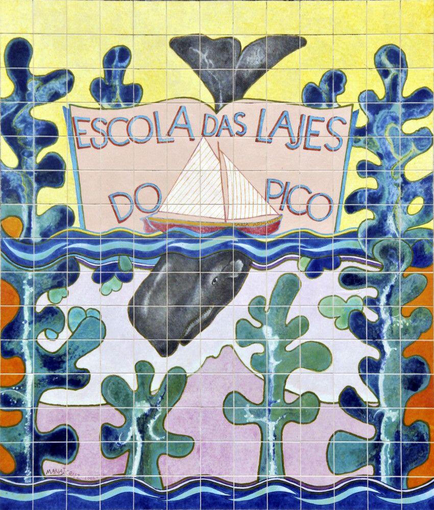 Portugiesische Kachelmalerei auf Azoren-Art