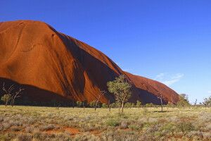 Blick auf den Uluru (Auyers Rock)