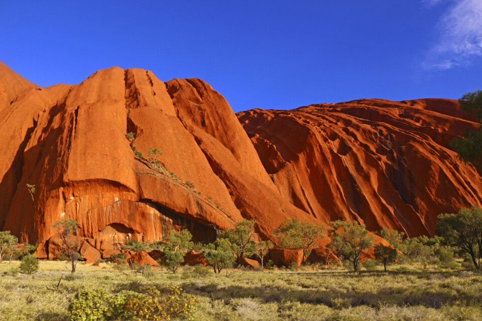 Detail am Inselberg Uluru (Auyers Rock)
