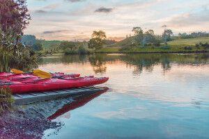 Start einer Kayaktour über den Lake Mc Laren