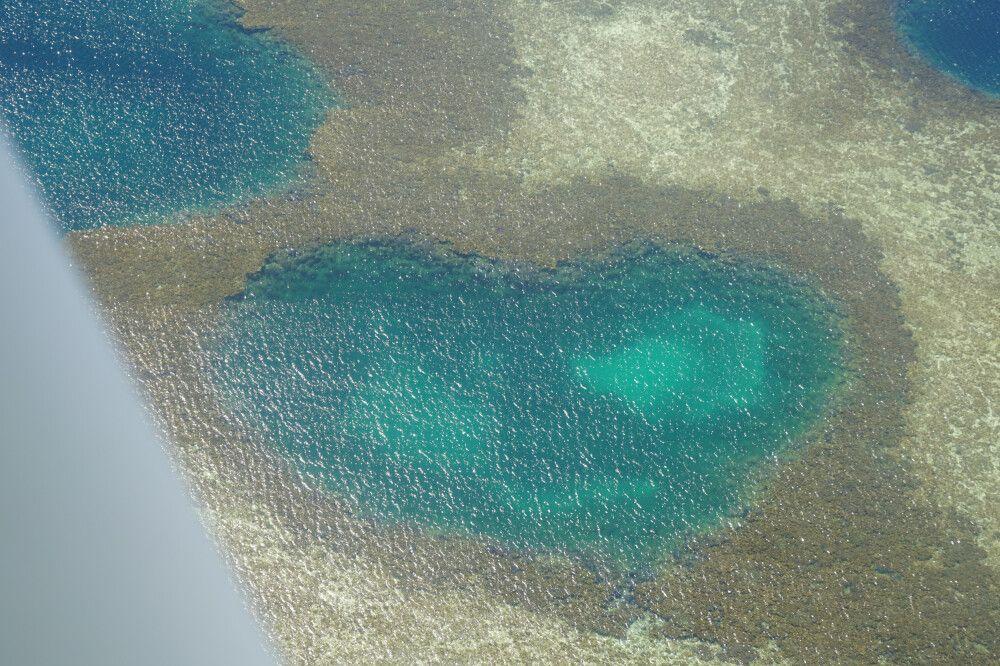 """Nicht das Original-""""Heartreef"""" aus Queensland, aber auch ein schönes, herzförmiges Riff und nett anzusehen."""