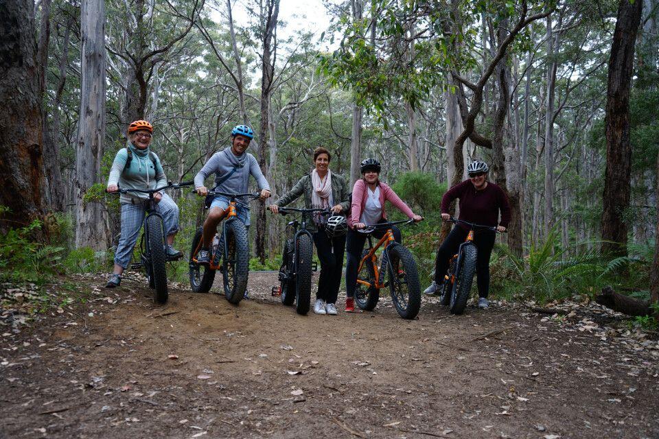 Bei einer Fatbike Tour ging es durch den Boranup Forest in der Margaret River Region – klare Empfehlung!
