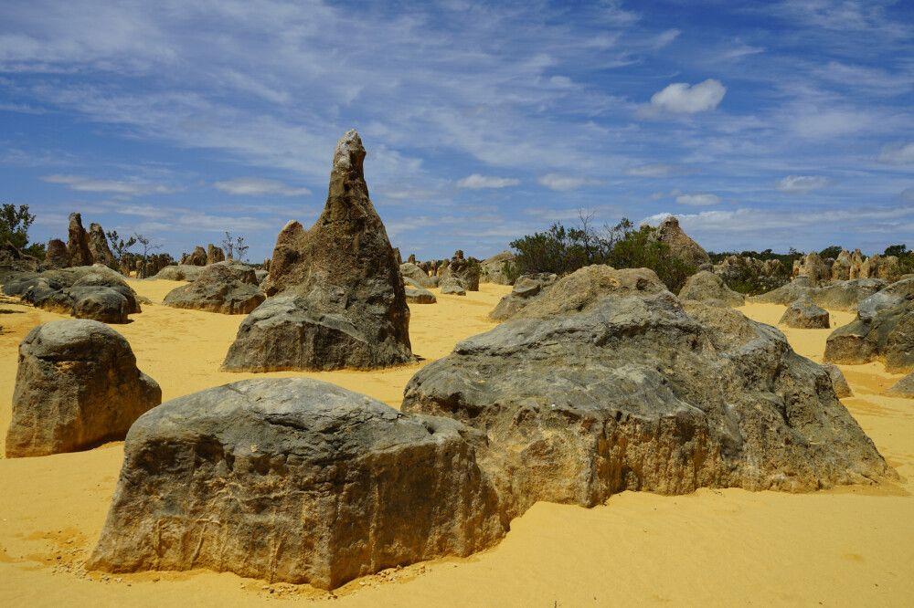 Die berühmten Pinnacles im Nambung Nationalpark.