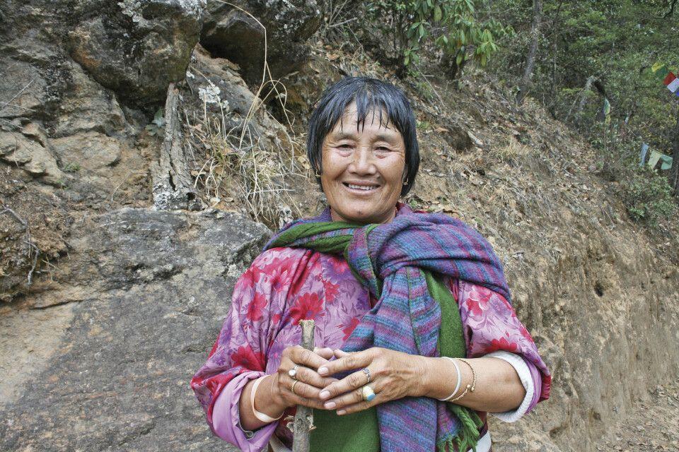 bhutanische Pilgerin