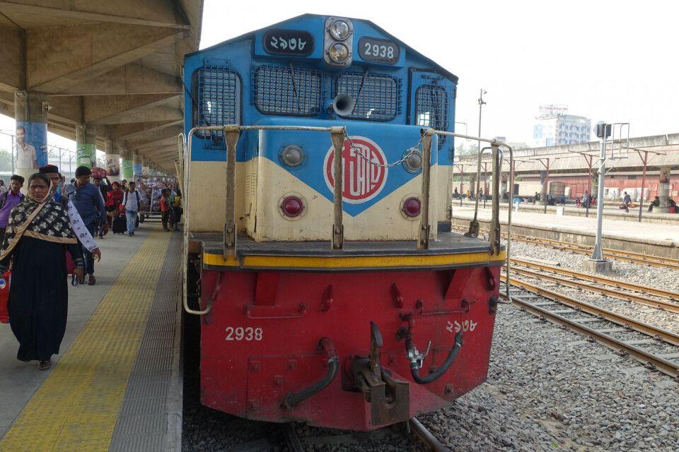 Am neuen Bahnhof in Chittagong