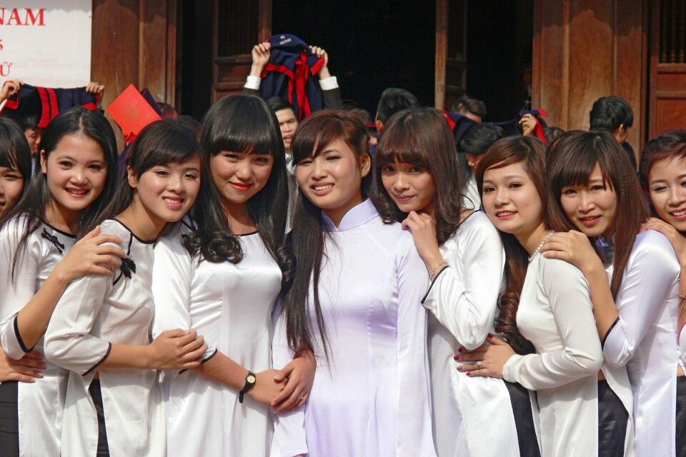 Abschlussfeier im Literaturtempel in Hanoi