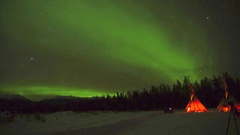 Nordlicht-Beobachtung nahe Whitehorse © Diamir