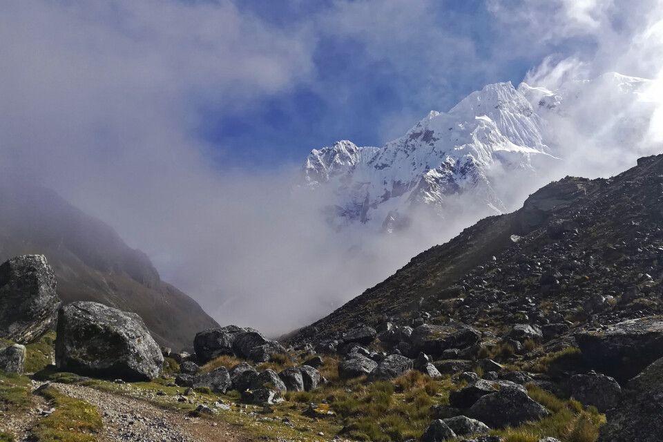 Durch die Wolken zum Salcantay