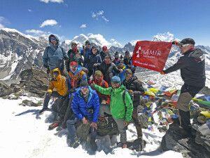 DIAMIR-Reisegruppe beim Gipfelerfolg am Gokyo Ri