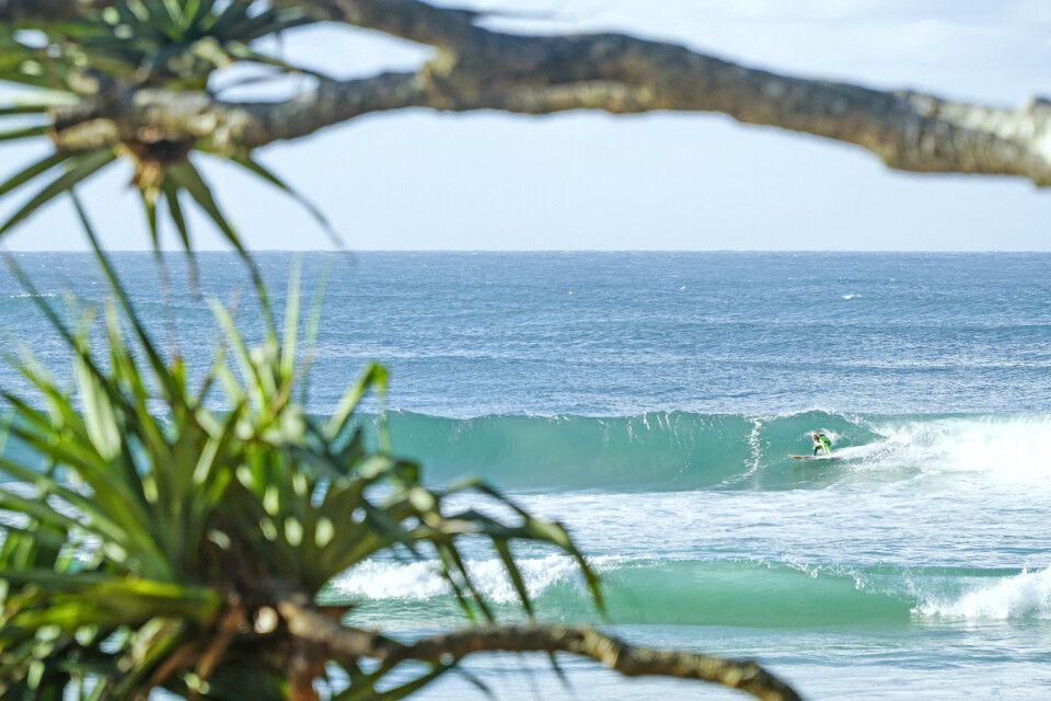 Surfen an der Gold Coast südlich von Brisbane, Queensland