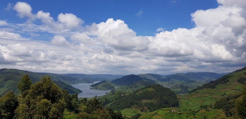 Großartige Aussichten auf den Lake Bunyonyi