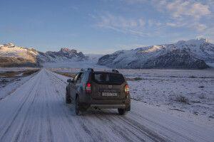 Im Winter unterwegs mit dem Allradfahrzeug