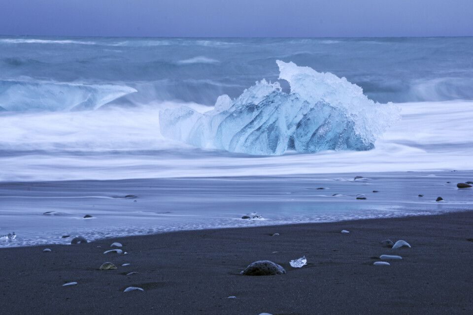 Am Diamond Beach bei Jökulsárlón