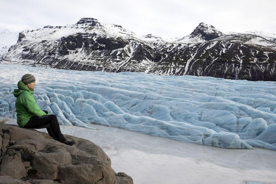 Am Svinafells-Gletscher