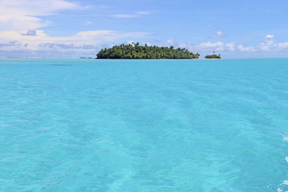 Einsame Insel im Archipel von Aitutaki