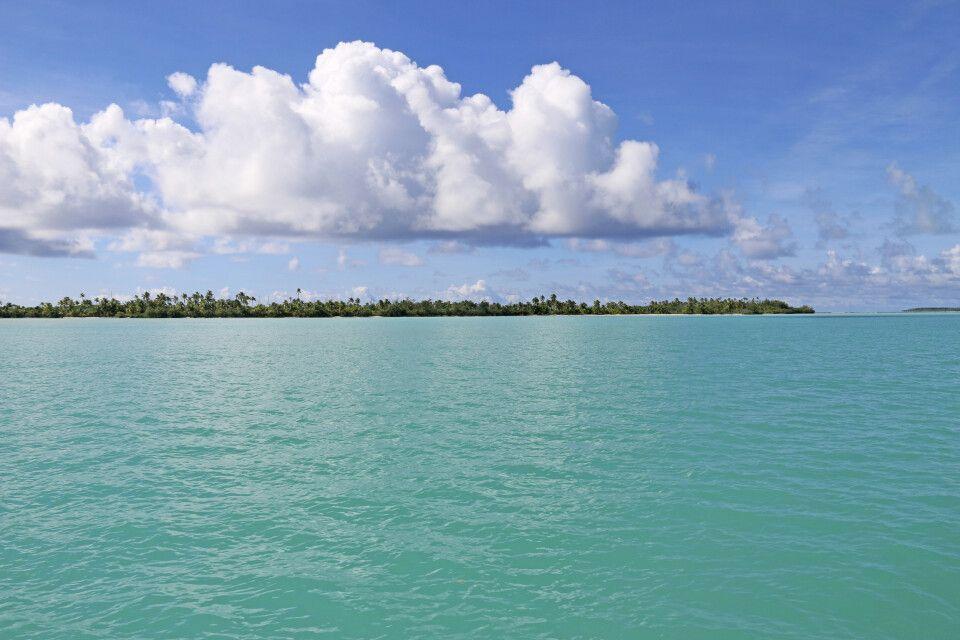 Insel an der Lagune von Aitutaki