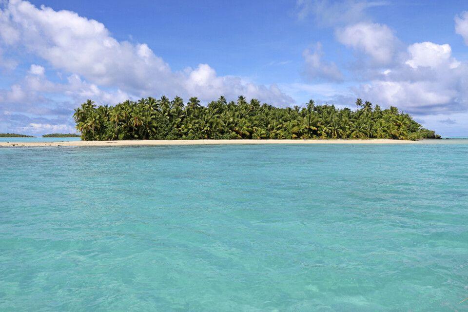 Barefoot Island in der Lagune von Aitutaki