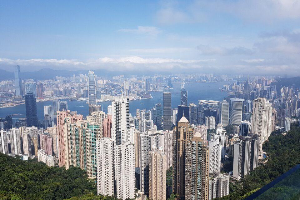 Großartiger Blick über Hongkong
