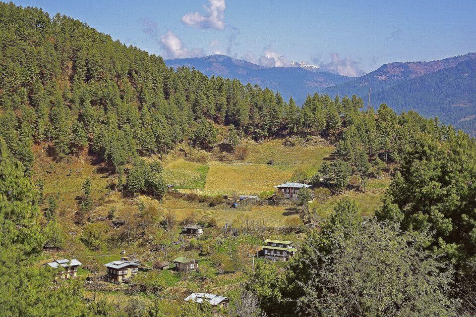 Ländliches Gebiet in Ostbhutan
