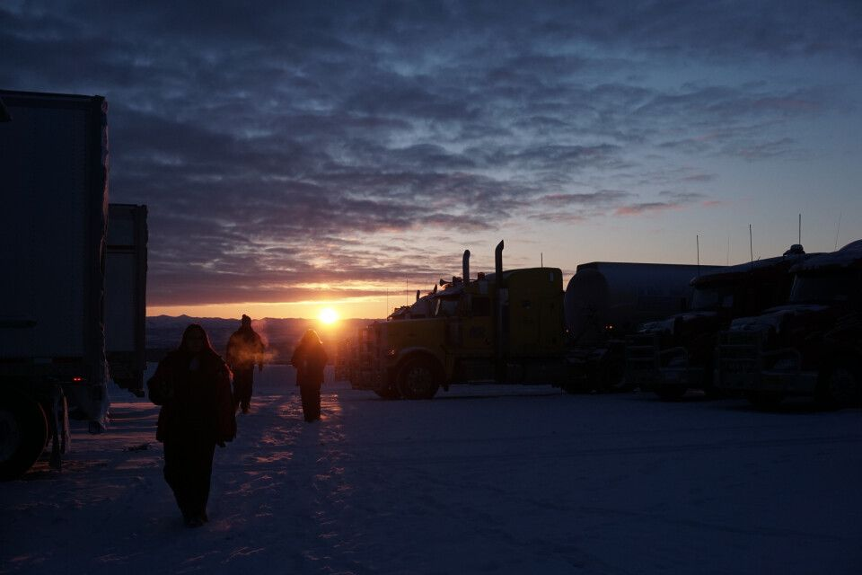 Sonnenaufgang in Eagle Plains