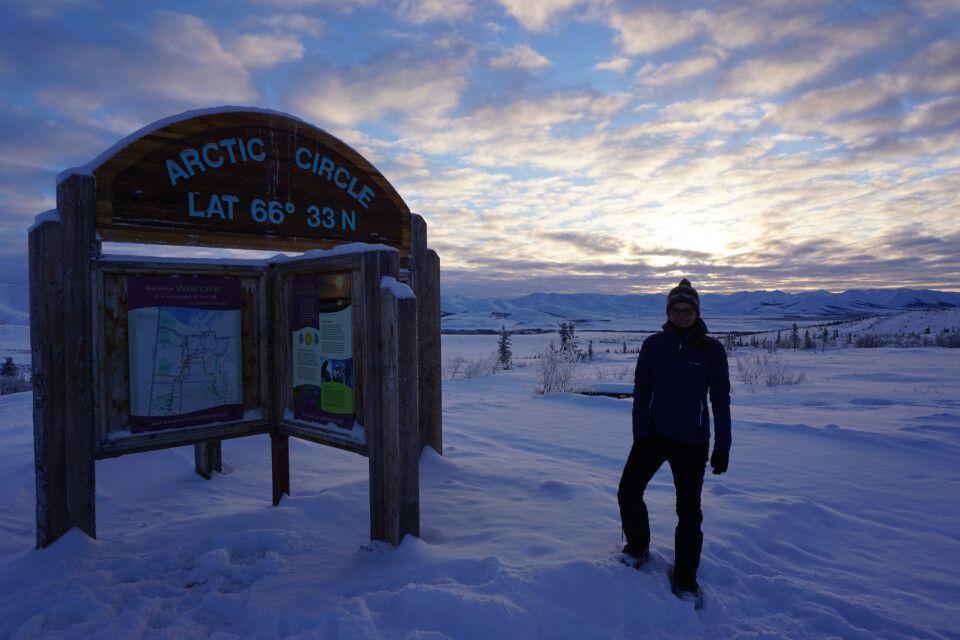 Am Polarkreis bei milden minus 20 Grad