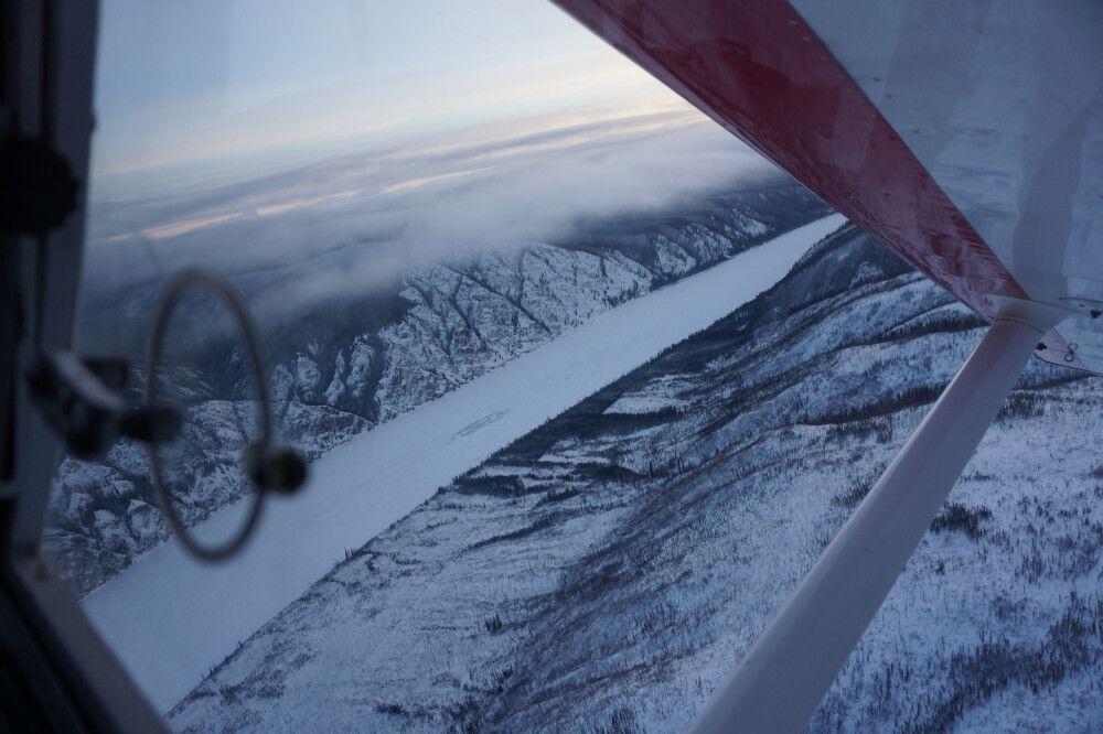 Ein Teil des Yukon Quest verläuft auf dem gefrorenen Fluss