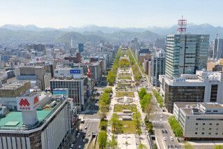 Blick auf Sapporo