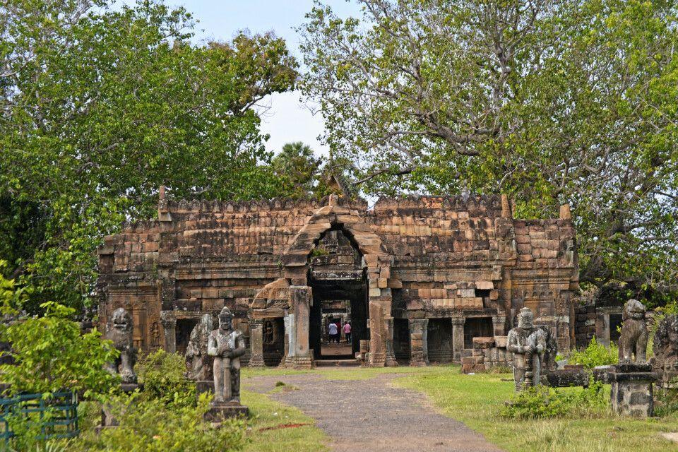 Kleiner Tempel von Nokor Bachey in der Nähe von Kampong Cham