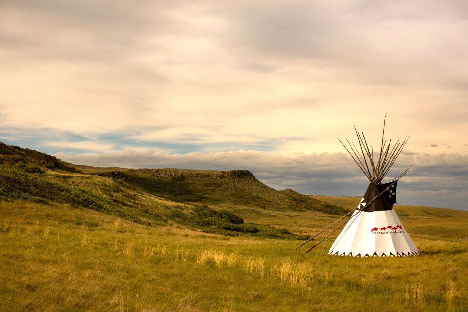 Tipi am Head-Smashed-In-Buffalo-Jump