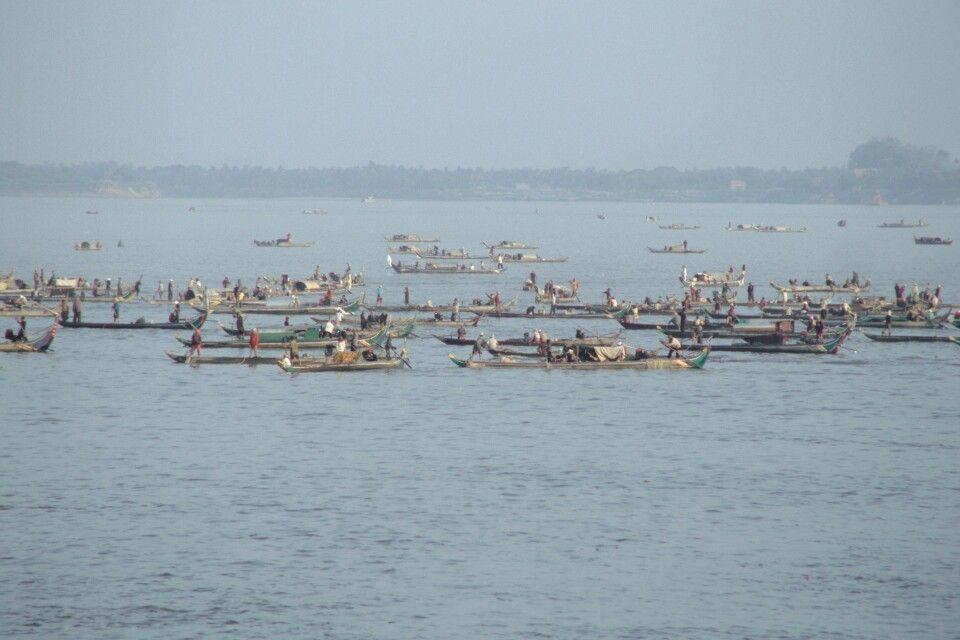 Boote auf dem Tonle Sap