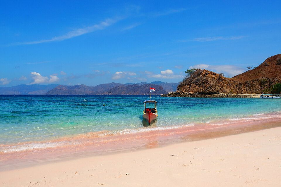 "Am ""Pink Beach"" bei Flores Islands"