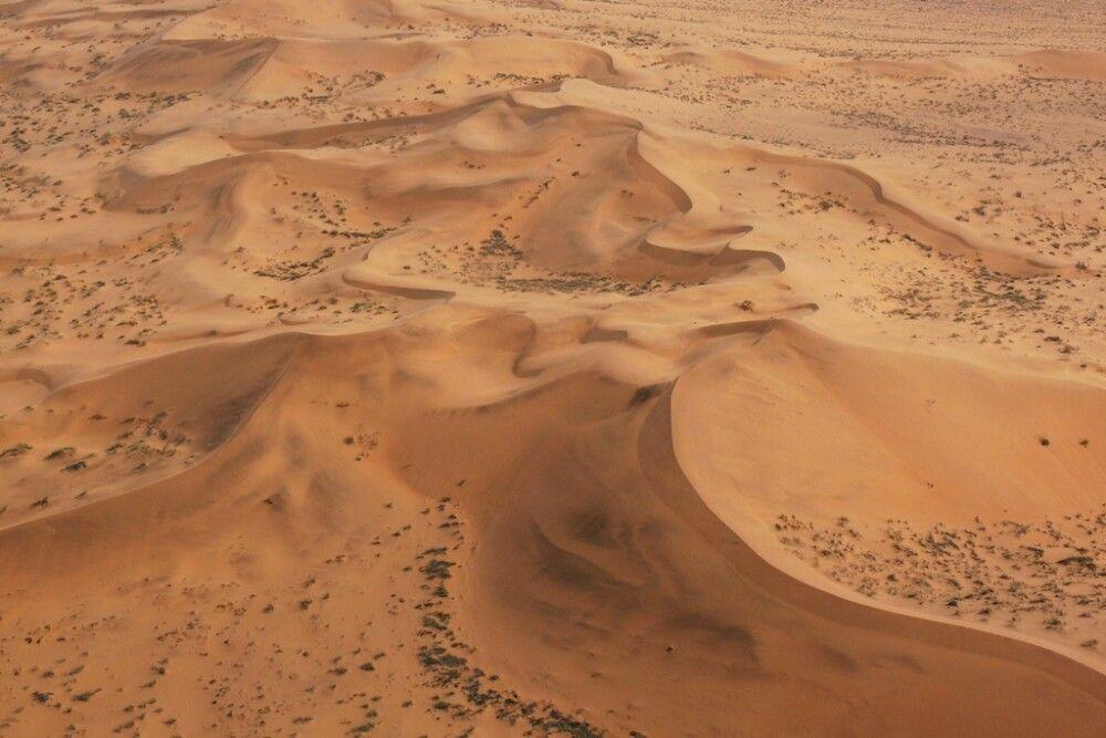 Die namibische Wüste aus der Vogelperspektive