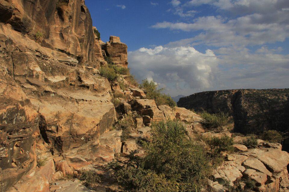 Wanderung im Canyon in Kohaito