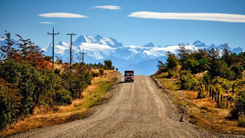 Blick auf die schneebedeckten Gipfel der Anden © Diamir