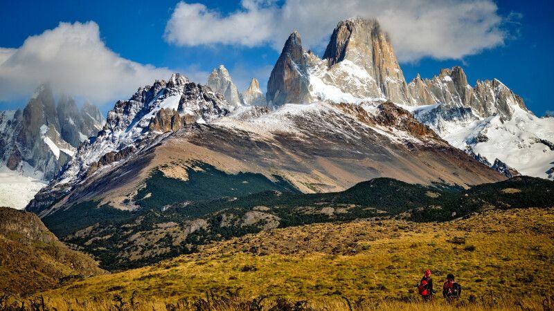 Das beeindruckende Bergmassiv im Nationalpark Los Glaciares mit dem markanten Fitz Roy © Diamir