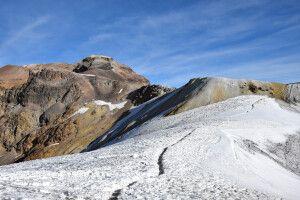 Aufstieg über den Gletscher am Iztaccihuatl