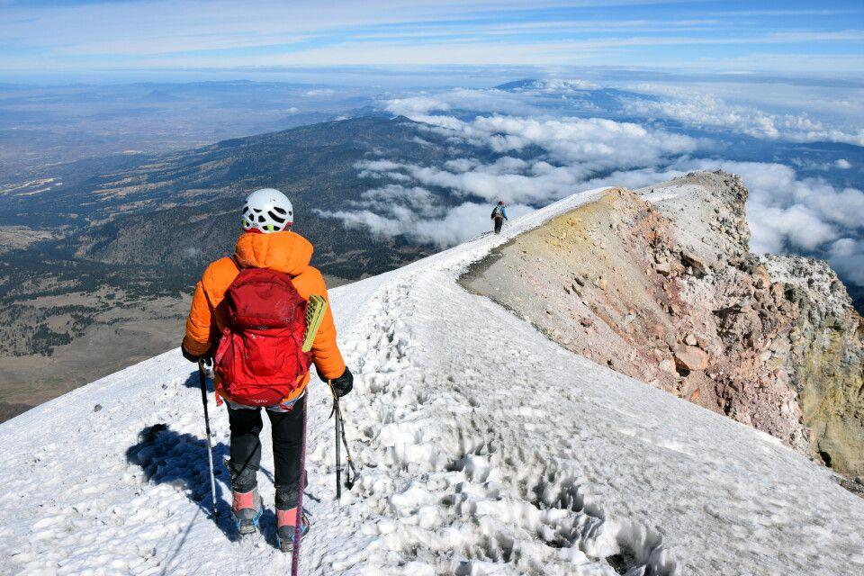 Abstieg vom Pico de Orizaba mit fantastischem Ausblick