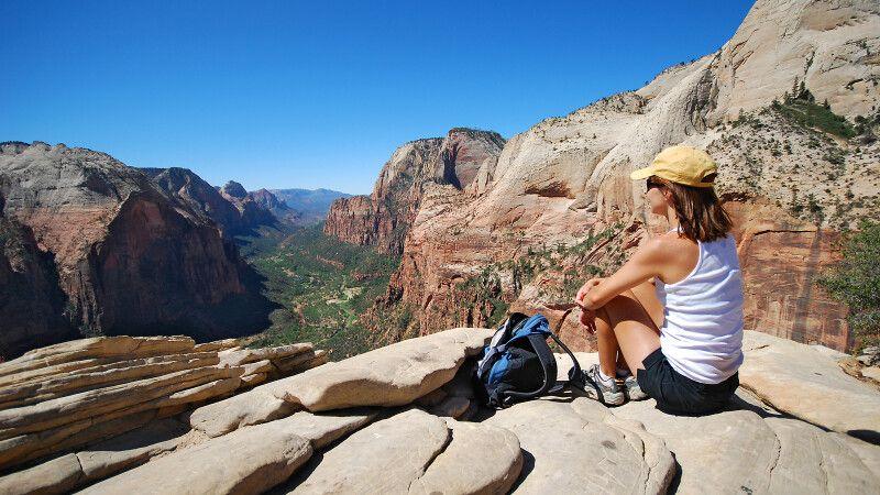Blick über den Zion Canyon von Angel's Landing, Zion-Nationalpark, Utah © Diamir