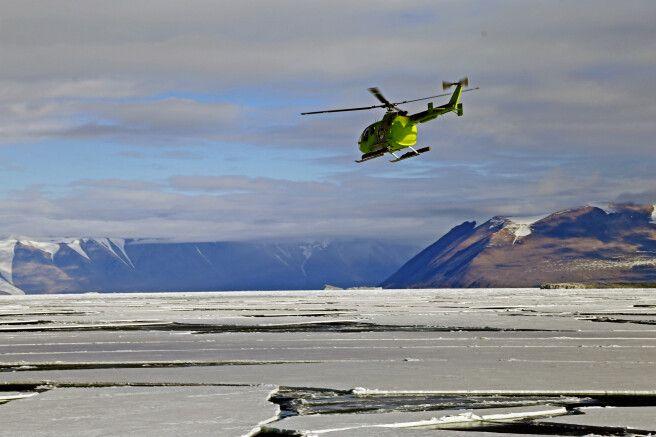 Helikoptertour über dem Packeis des Rossmeeres