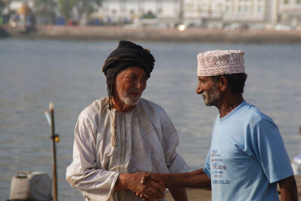 freundliche Omanis