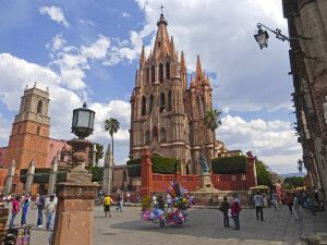 Kirche in San Miguel de Allende, Guanajuato, Zentral-Mexiko