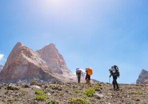 Trekking im Fan-Gebirge