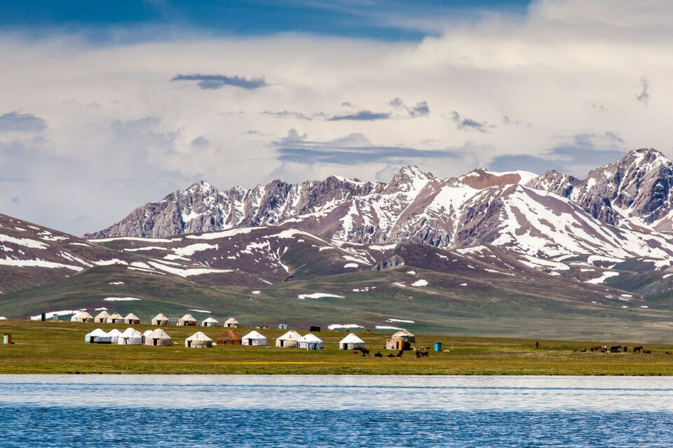 Am Song Kul in den Tian Shan Bergen
