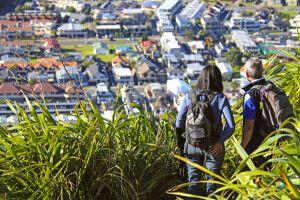 Rast auf dem Mount Maunganui