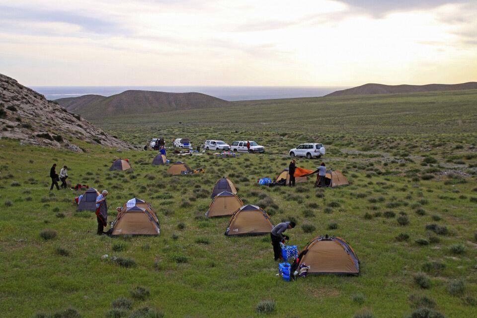 Camping auf idyllischem Terrain