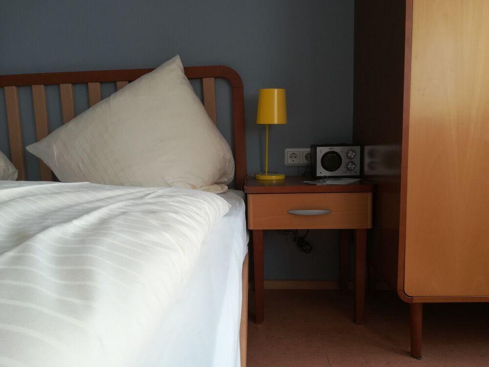 Im Hotel Helgoländer Klassik ist alles im Stil der 60er eingerichtet