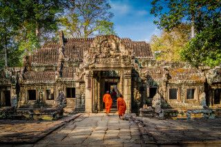 Mönche in Angkor